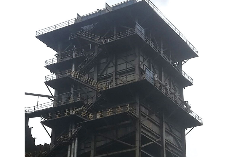 燕山烧结一厂烧结机744管湿式电除尘器